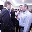 Денис Батранков, НР (слева) отвечает на вопросы участников конференции